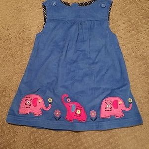 Blue corduroy dress